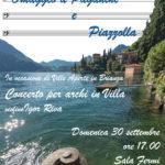 Omaggio a Paganini e Piazzolla: domenica 30 settembre concerto a Villa Monastero di varenna